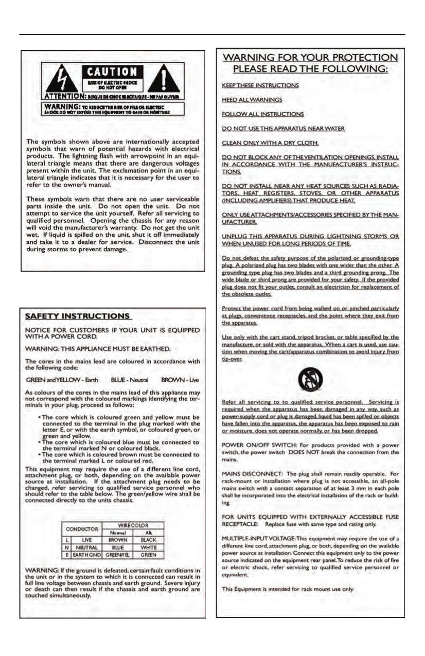 PDF manual for Lexicon Amp LX-7