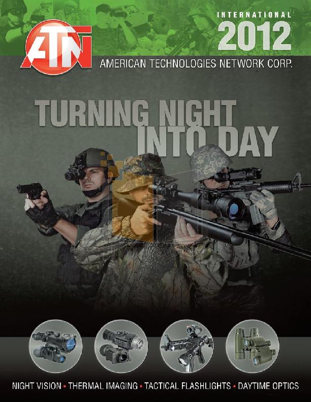 pdf for Atn Binocular Omega 7X30RF manual