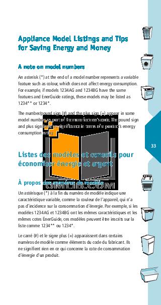 pdf for Estate Refrigerator TT14DKXK manual