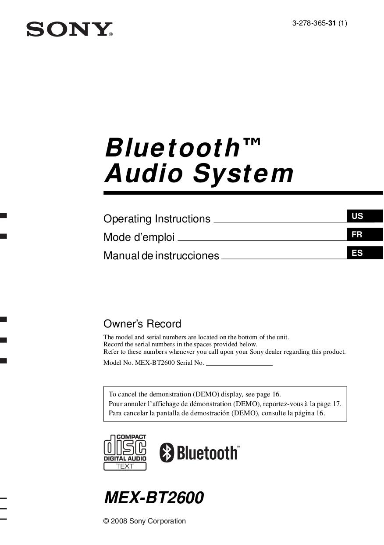 Sony Mex N5100bt Manual Pdf Car Audio