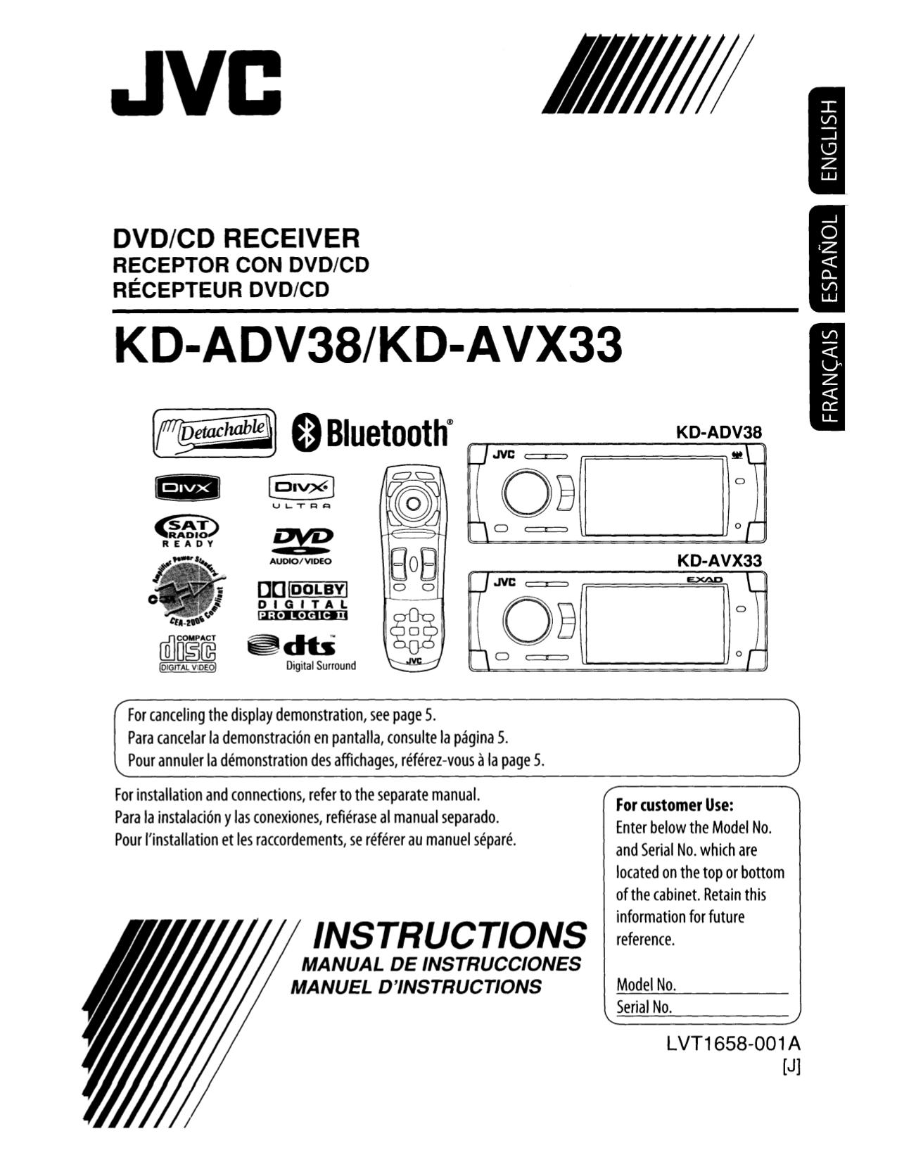 Инструкция Jvc Kd-Avx33