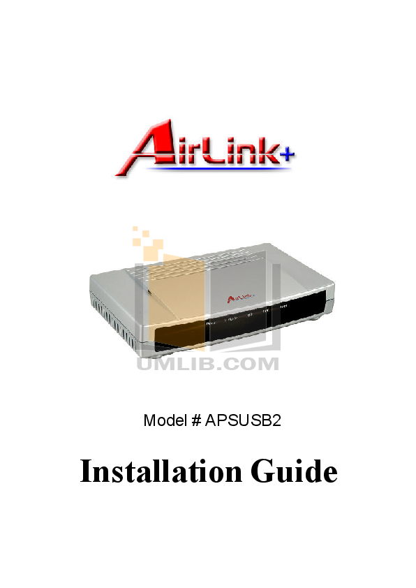 pdf for Airlink Other APSUSB2 Servers manual