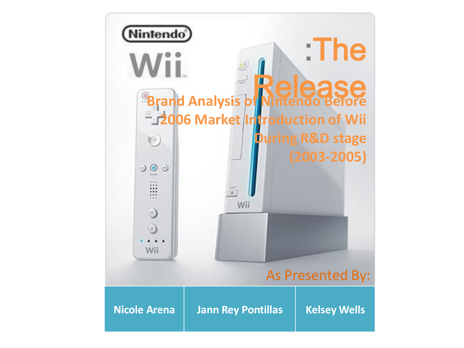 marketing analysis for nintendo wii Nintendo wii case analysis the wii is a video game console released by nintendo on 2006 audit report: marketing plan and situation analysis for nintendo wii wii's macroenvironment the nintendo wii's macroenvironment consists of many components that the company has been able to.