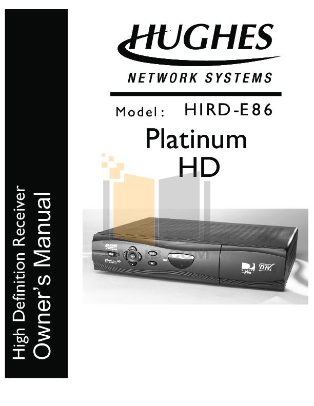 pdf for DirecTV DVR HIRD-E86 manual