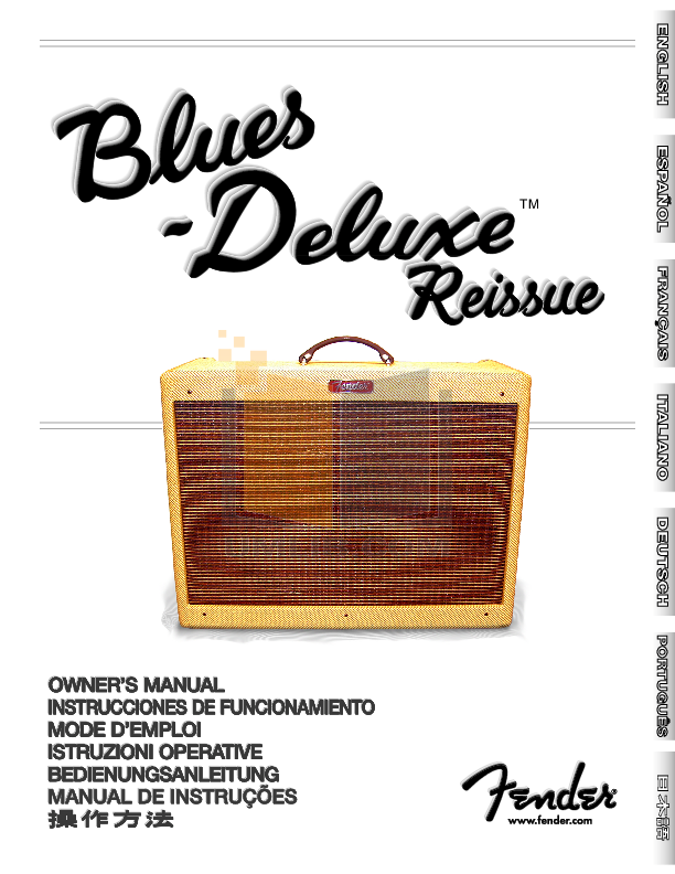 fender blues deluxe reissue manual pdf