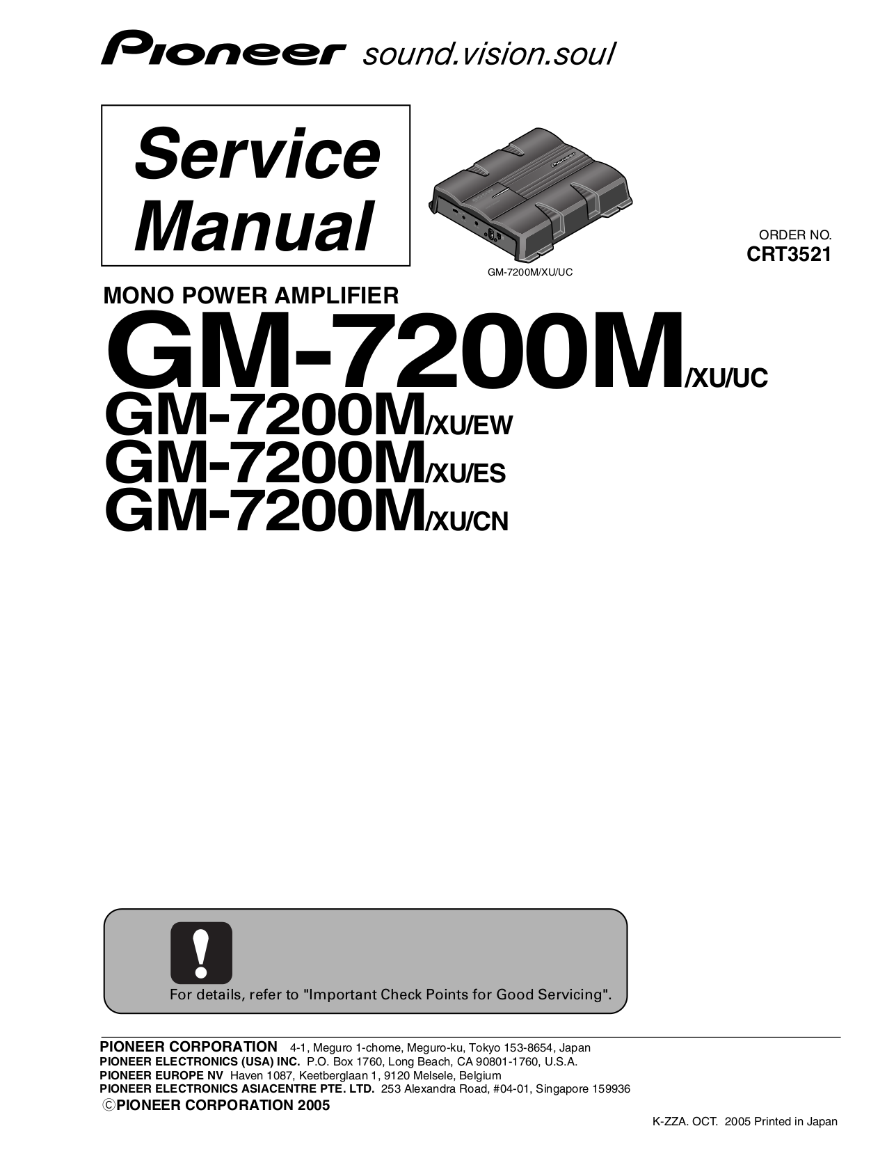 download free pdf for pioneer gm 7200m car amplifier manual rh umlib com