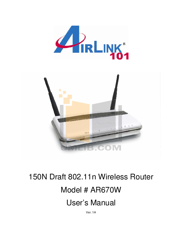 pdf for Airlink Other AWLL6070 Adapters manual