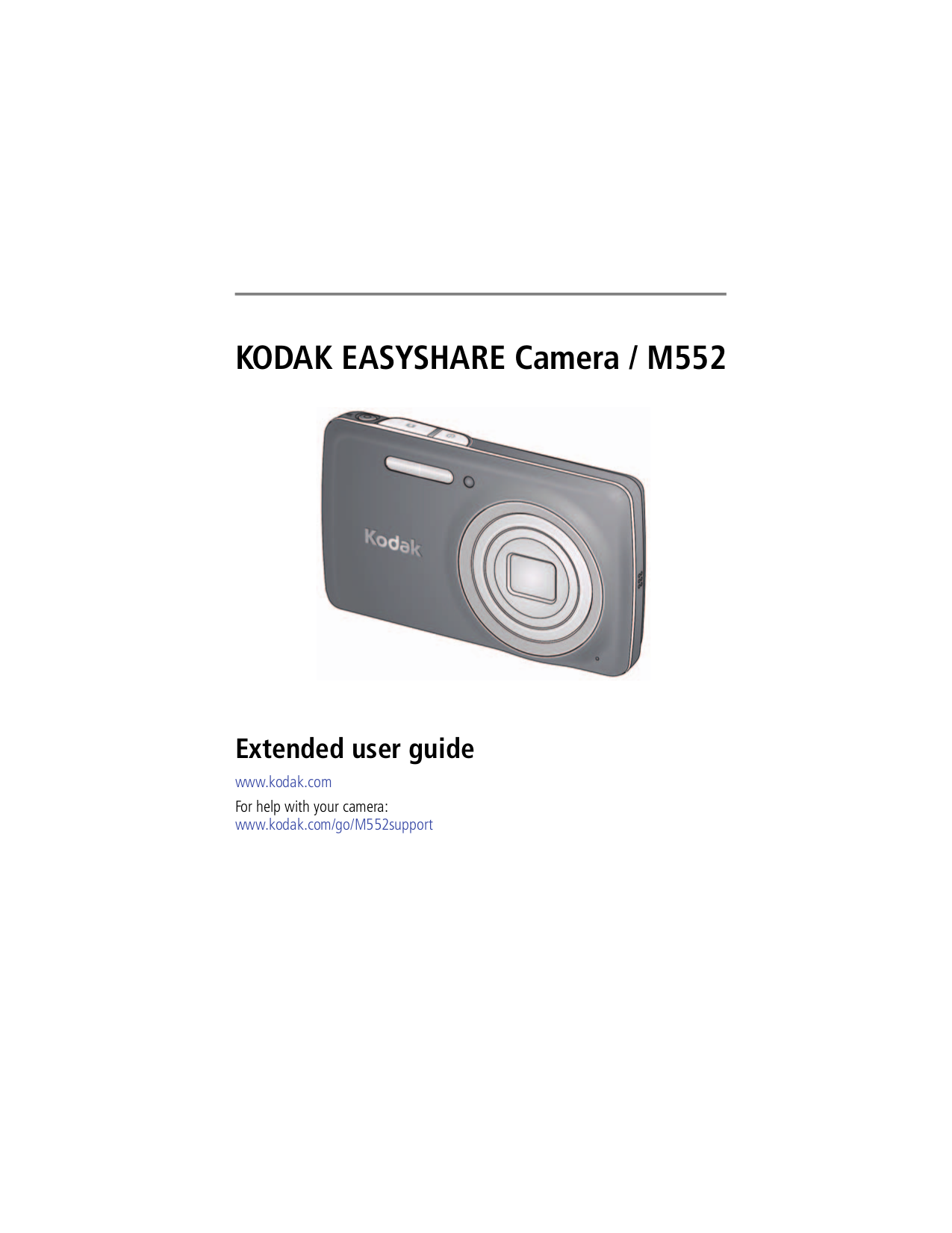 pdf for Kodak Digital Camera EasyShare M552 manual
