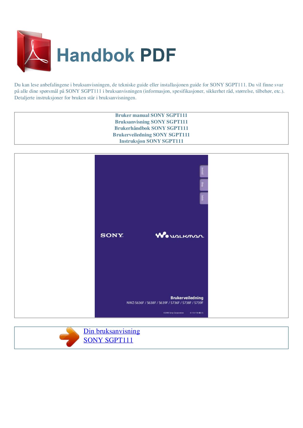 sony walkman mp3 player manual