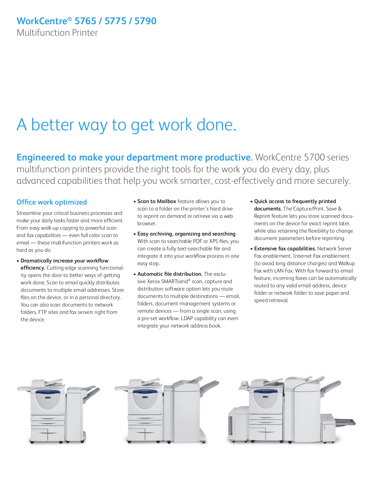 PDF manual for Xerox Copier DocuColor 5765