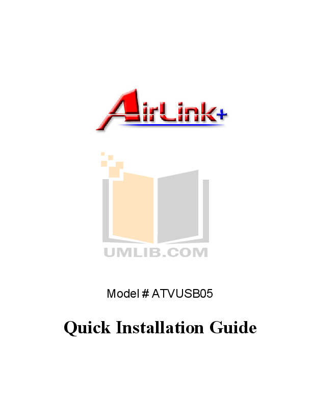 pdf for Airlink Other ATVUSB05 Adapters manual