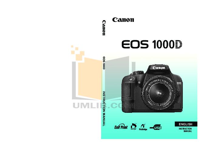 pdf for Canon Digital Camera EOS 1000D manual