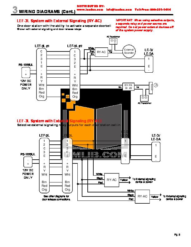 Pleasant Pdf Manual For Aiphone Other Lef 3L Intercoms Wiring 101 Ziduromitwellnesstrialsorg