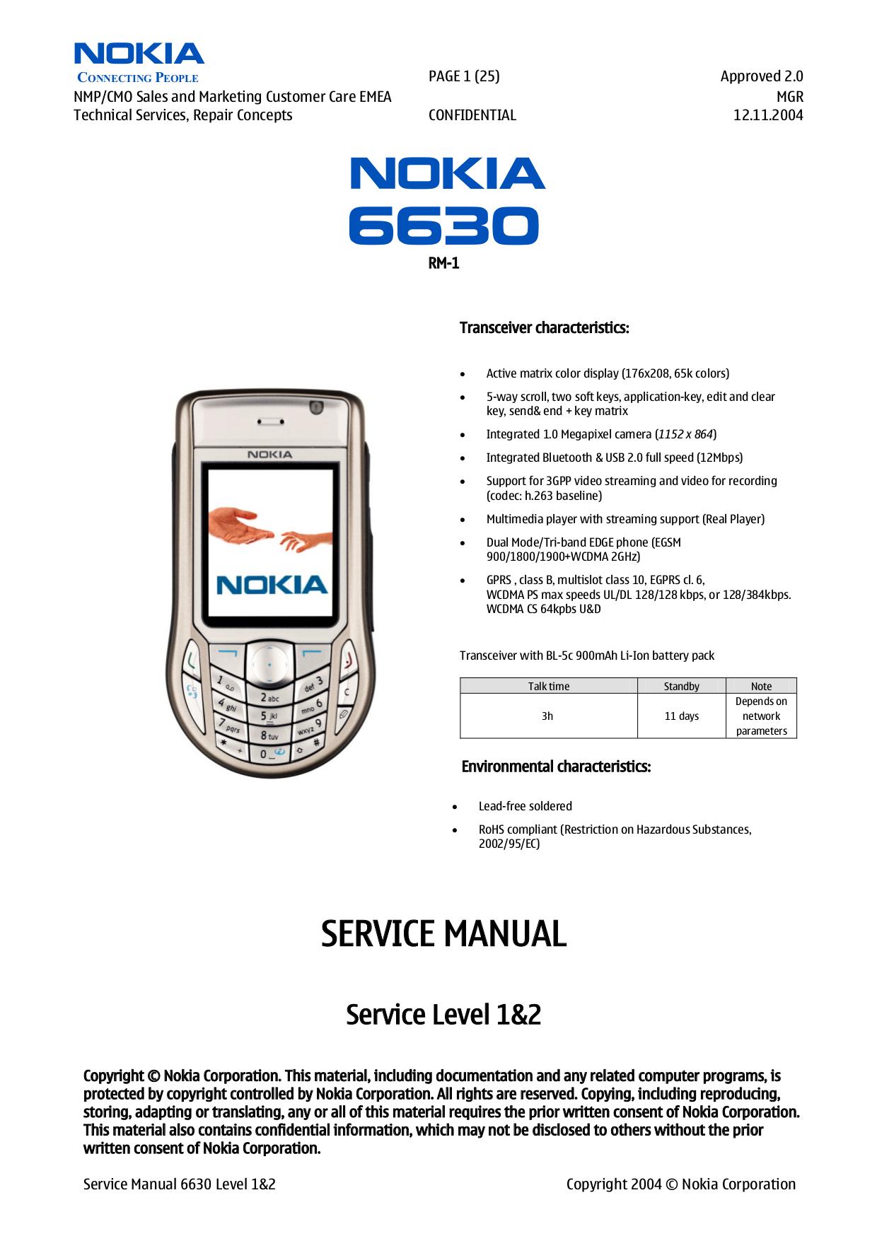 инструкция по использованию nokia 6630
