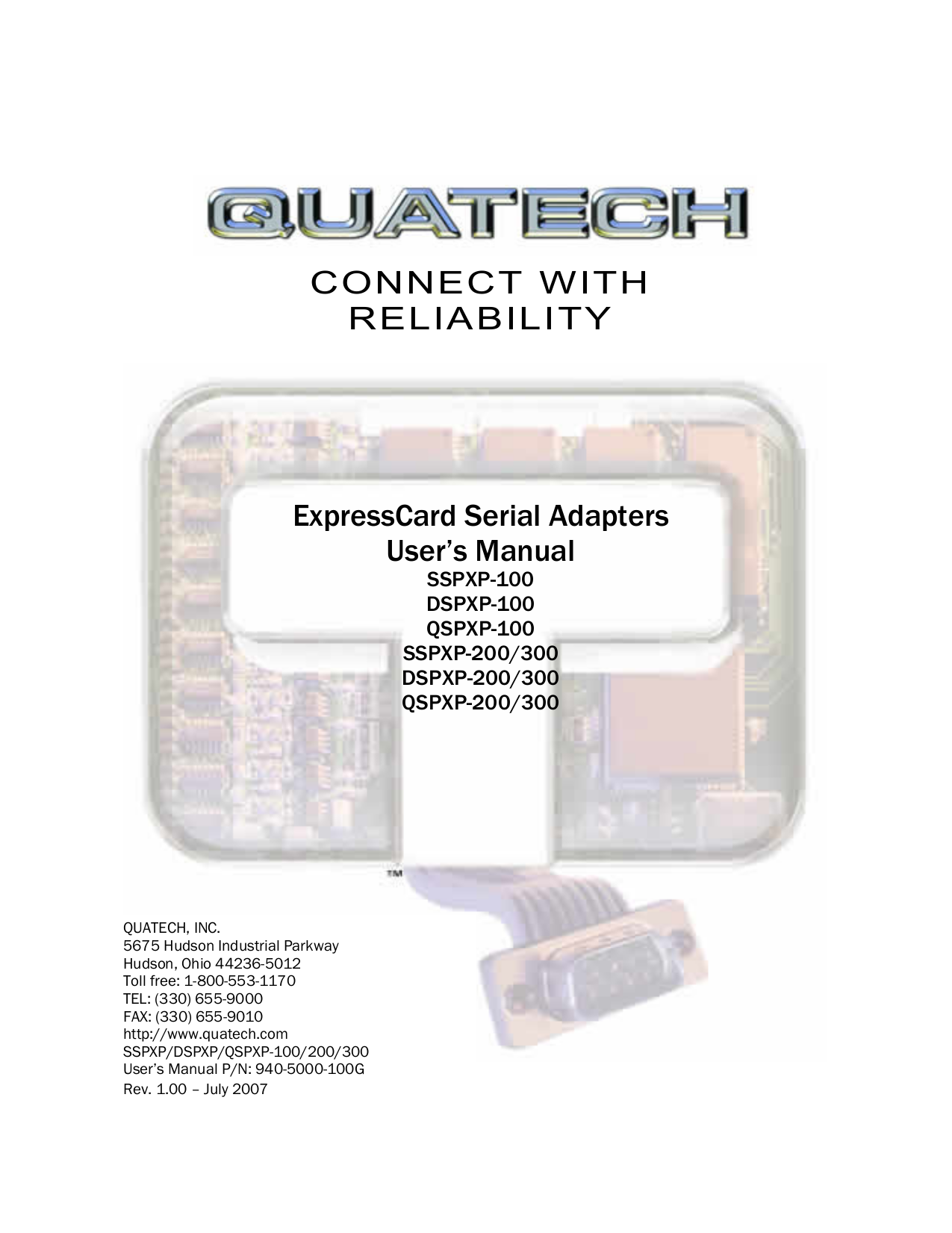pdf for Quatech Other QSPXP-100 PCI Express Devices manual