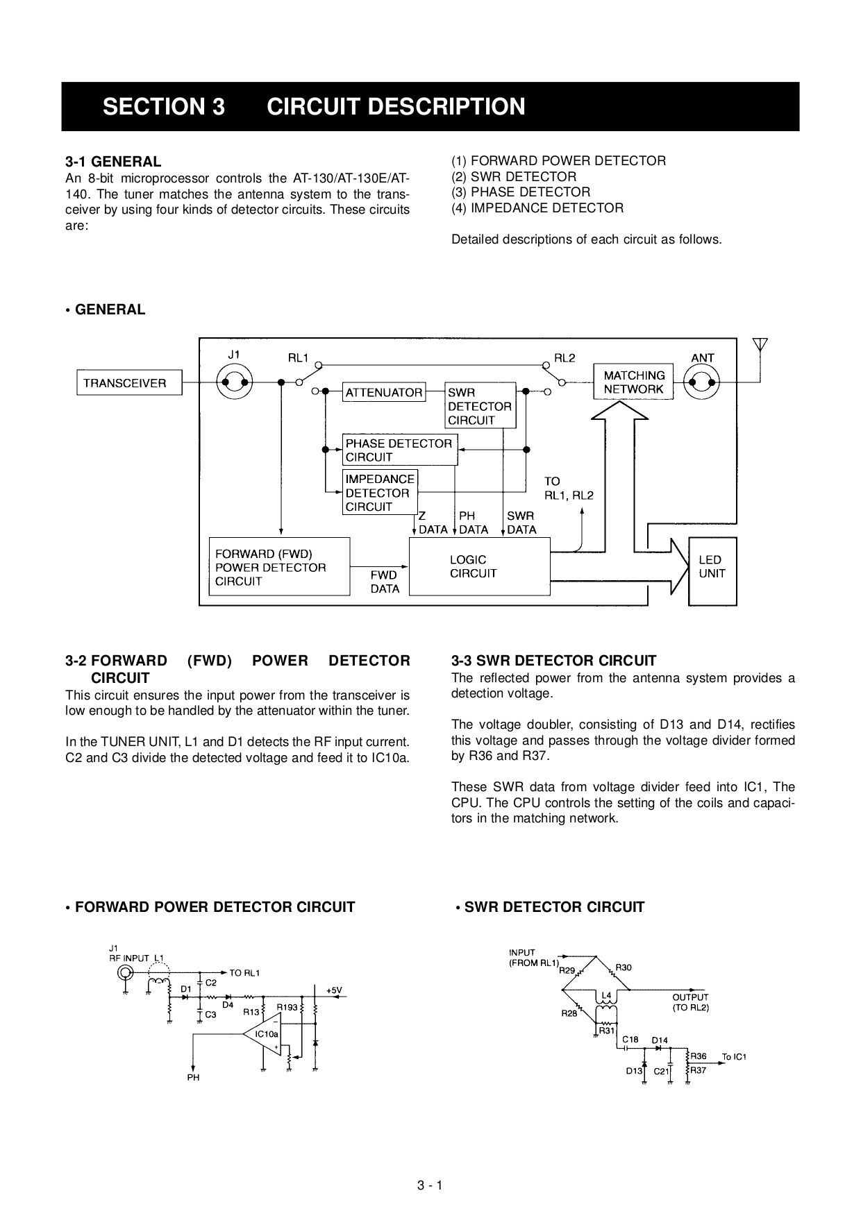... ICOM Other AT-140 Antenna Tuner pdf page preview ...