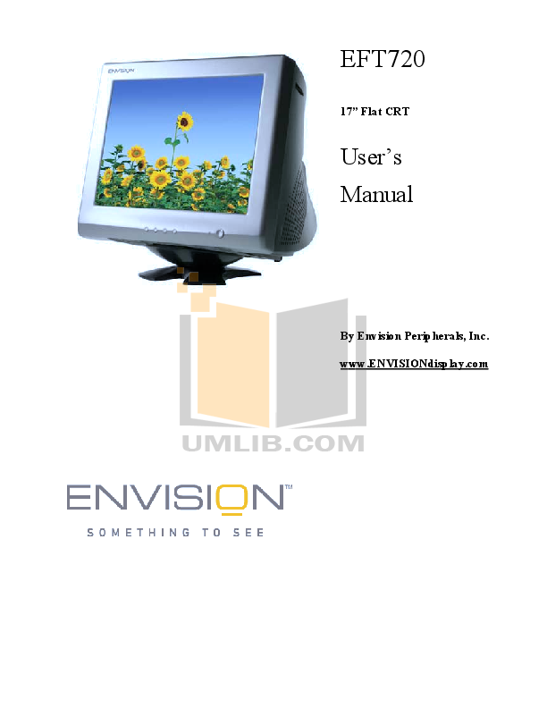 pdf for Envision Monitor EFT720 manual