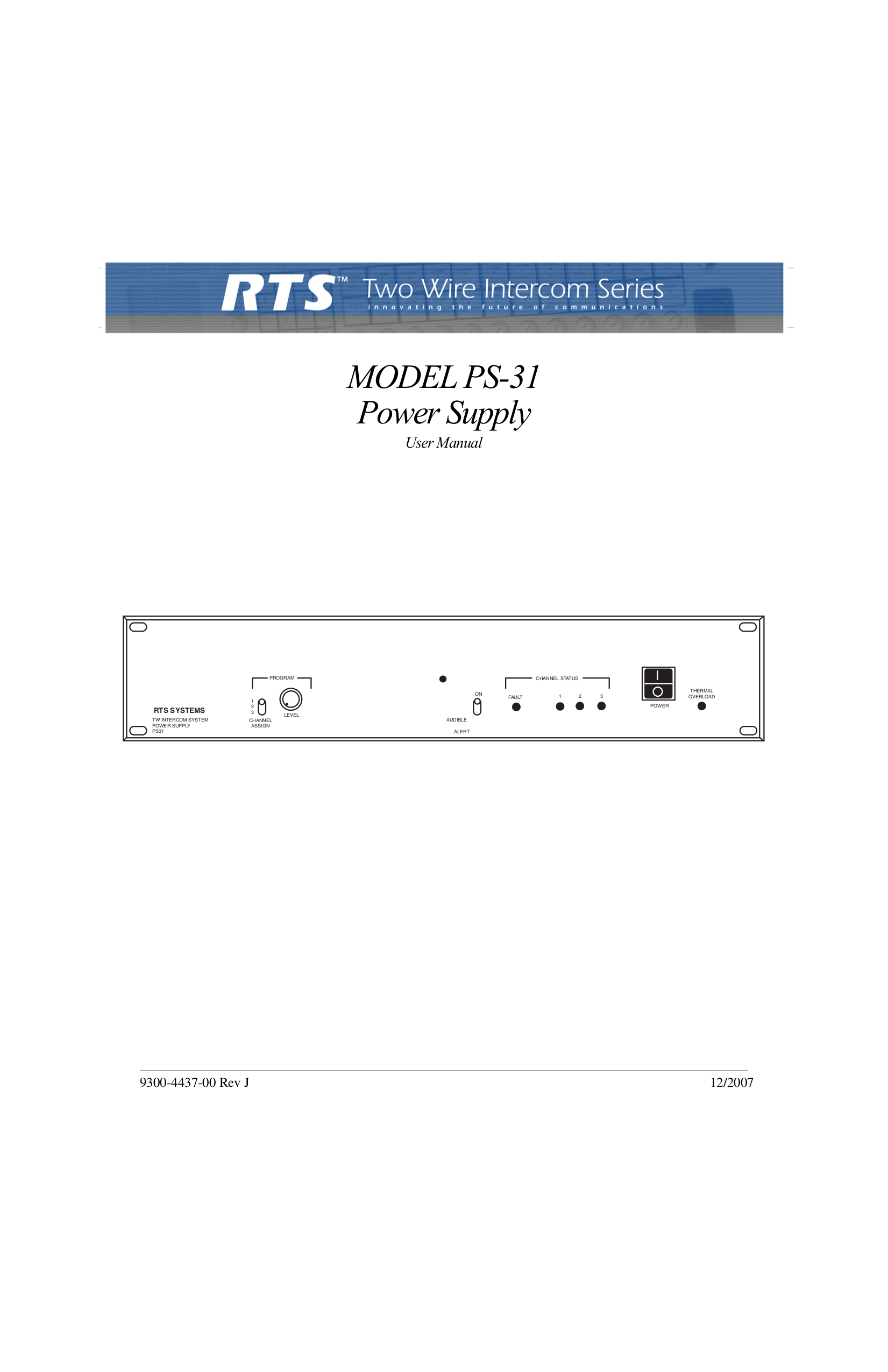 pdf for Telex Other PS-31 IntercomSystem manual