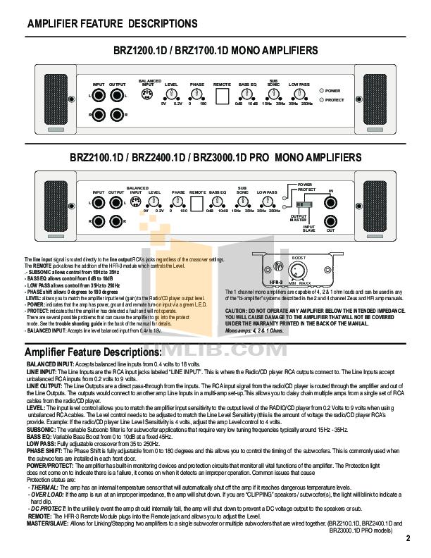 HifonicsBrutusBRZ2010AmplifierManual.pdf 3 wat pdf manual for hifonics car amplifier brutus brz 2400 1d Hifonics Subwoofers at downloadfilm.co