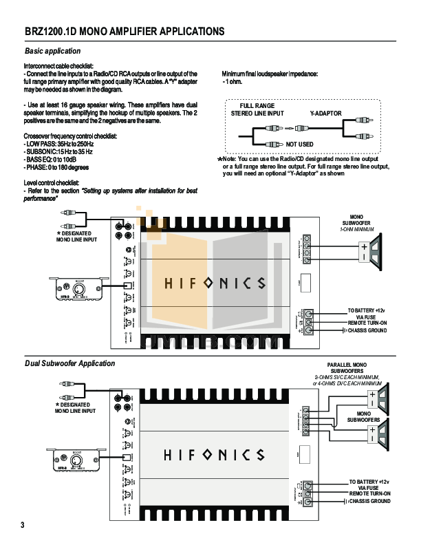 Wondrous Pdf Manual For Hifonics Car Amplifier Brutus Brz 2400 1D Wiring Database Ioscogelartorg