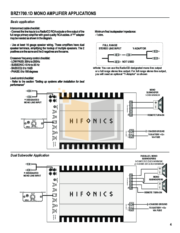 HifonicsBrutusBRZ2010AmplifierManual.pdf 5 wat pdf manual for hifonics car amplifier brutus brz 2400 1d brz amp wiring diagram at edmiracle.co