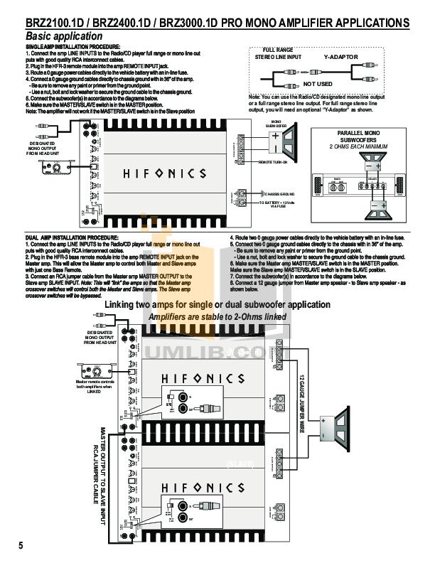 HifonicsBrutusBRZ2010AmplifierManual.pdf 6 wat pdf manual for hifonics car amplifier brutus brz 2400 1d  at fashall.co