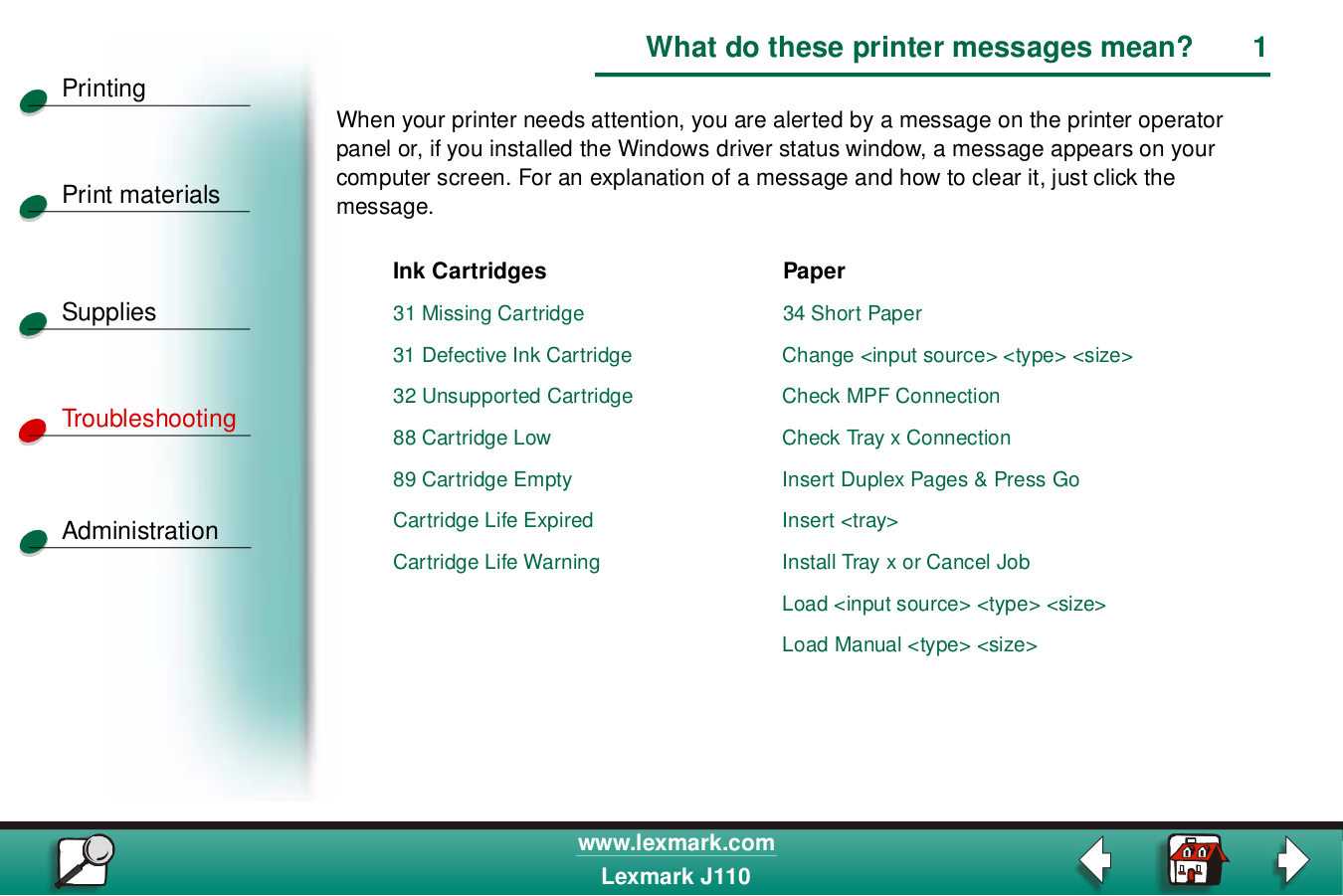 pdf for Lexmark Printer Optra T642n manual