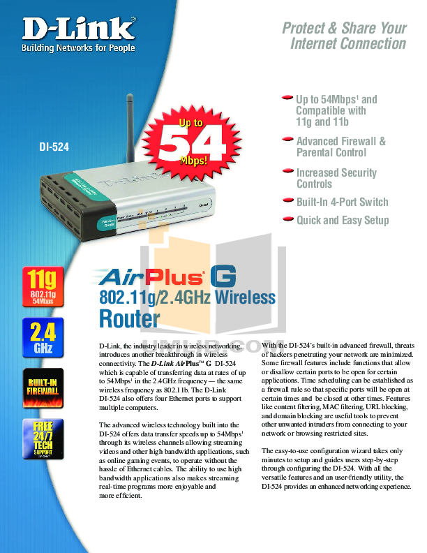 D-link di-524 quick installation manual pdf download. | diy.