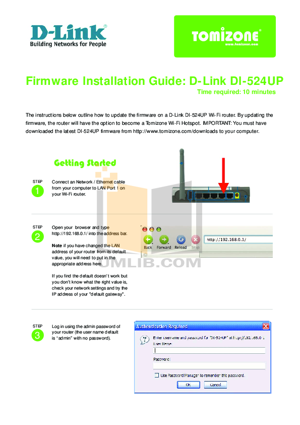 Download free pdf for d-link di-524 wireless router manual.