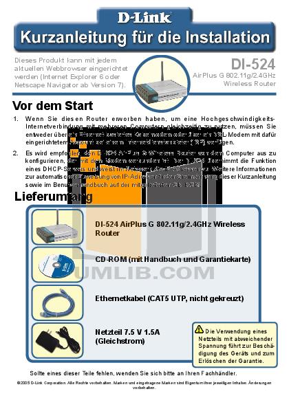 D-link di-524up manuals.