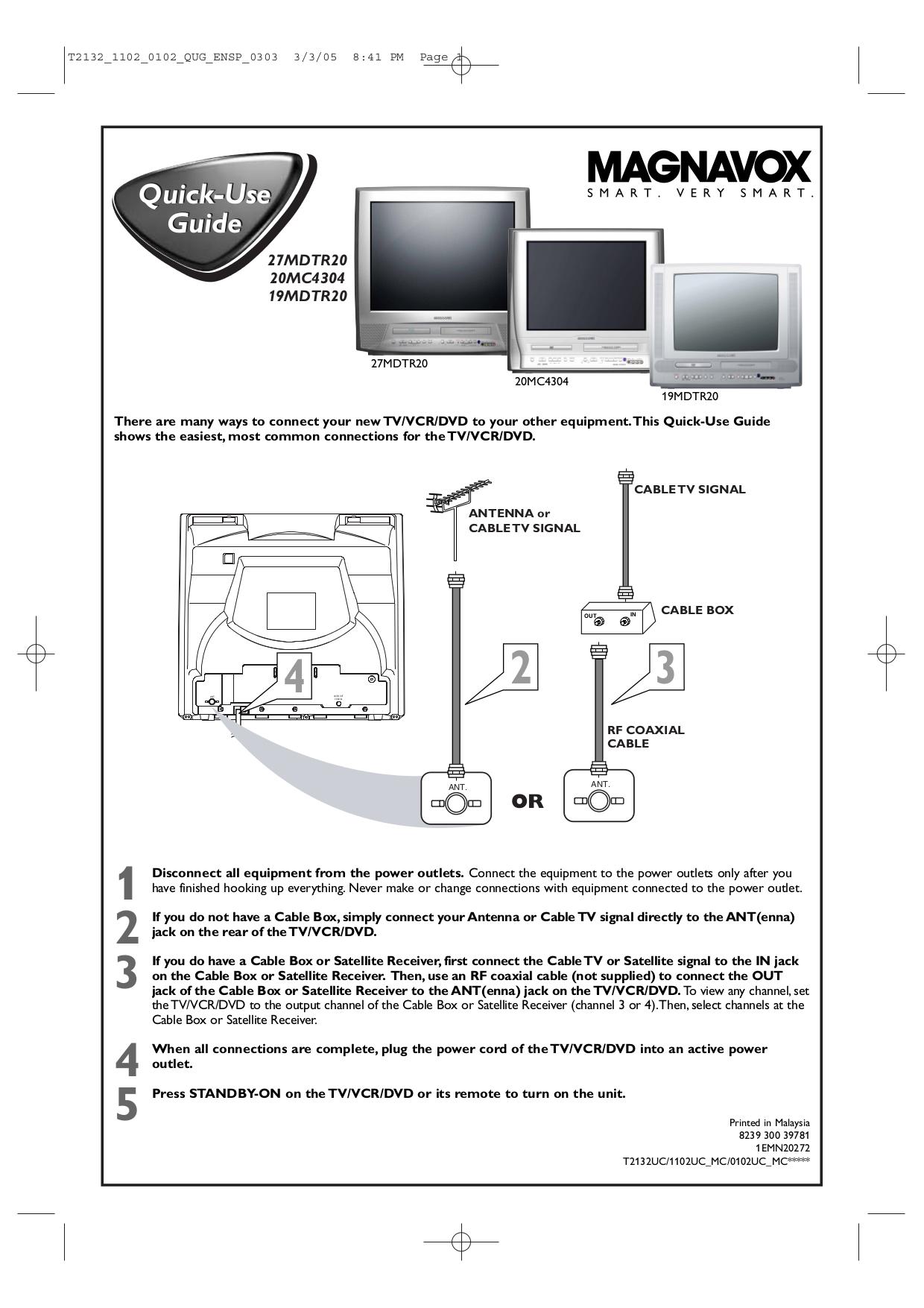 download free pdf for philips 19mdtr20 tv manual rh umlib com Magnavox VCR DVD Player Manual magnavox tv dvd player manual