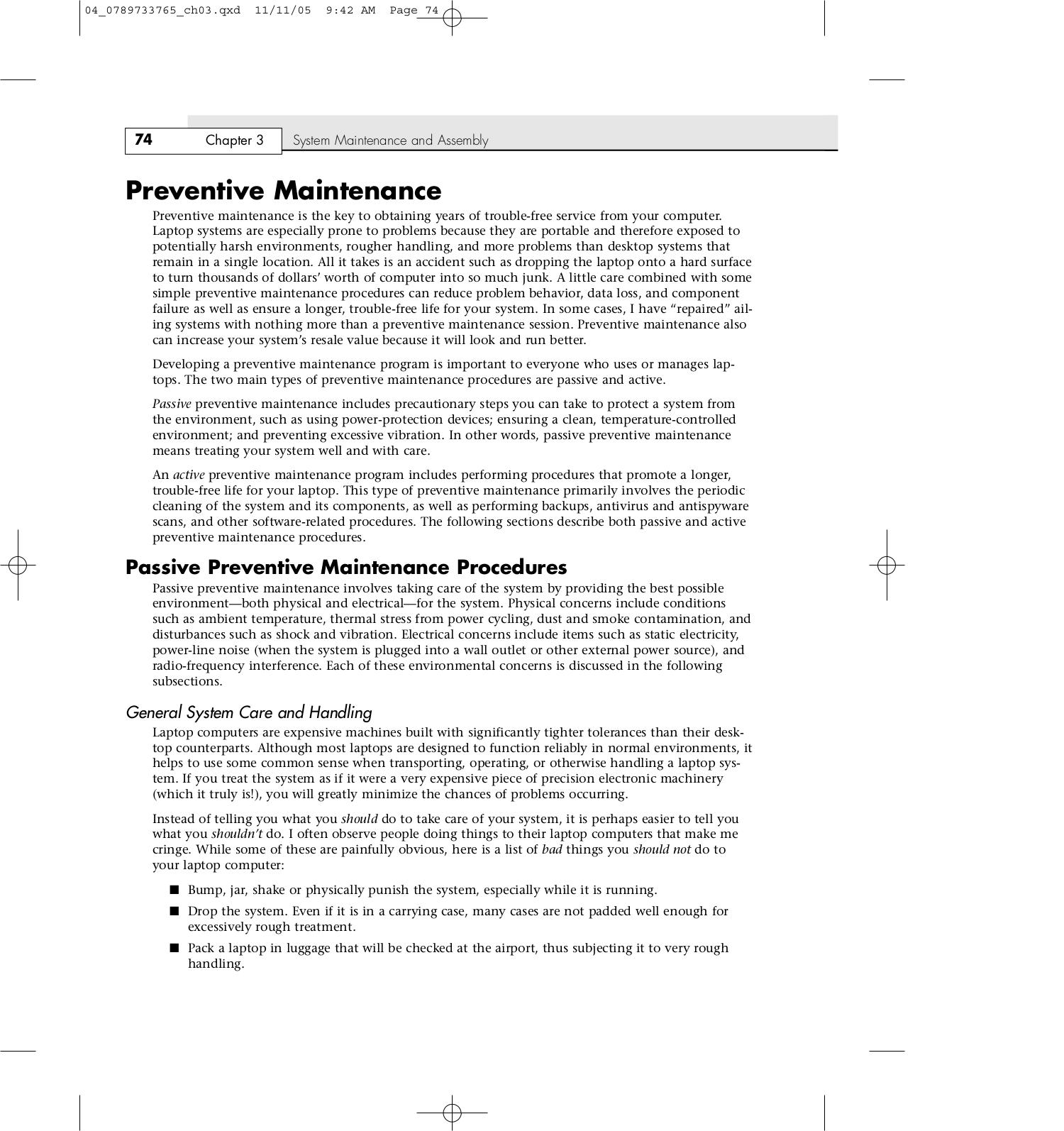 Preventive Maintenance Procedure Pdf