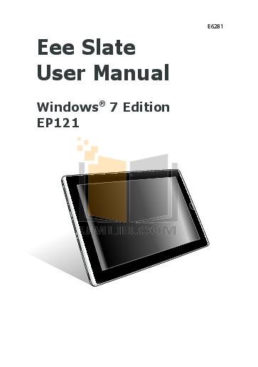 pdf for Asus Tablet Eee Pad Slider 16GB manual