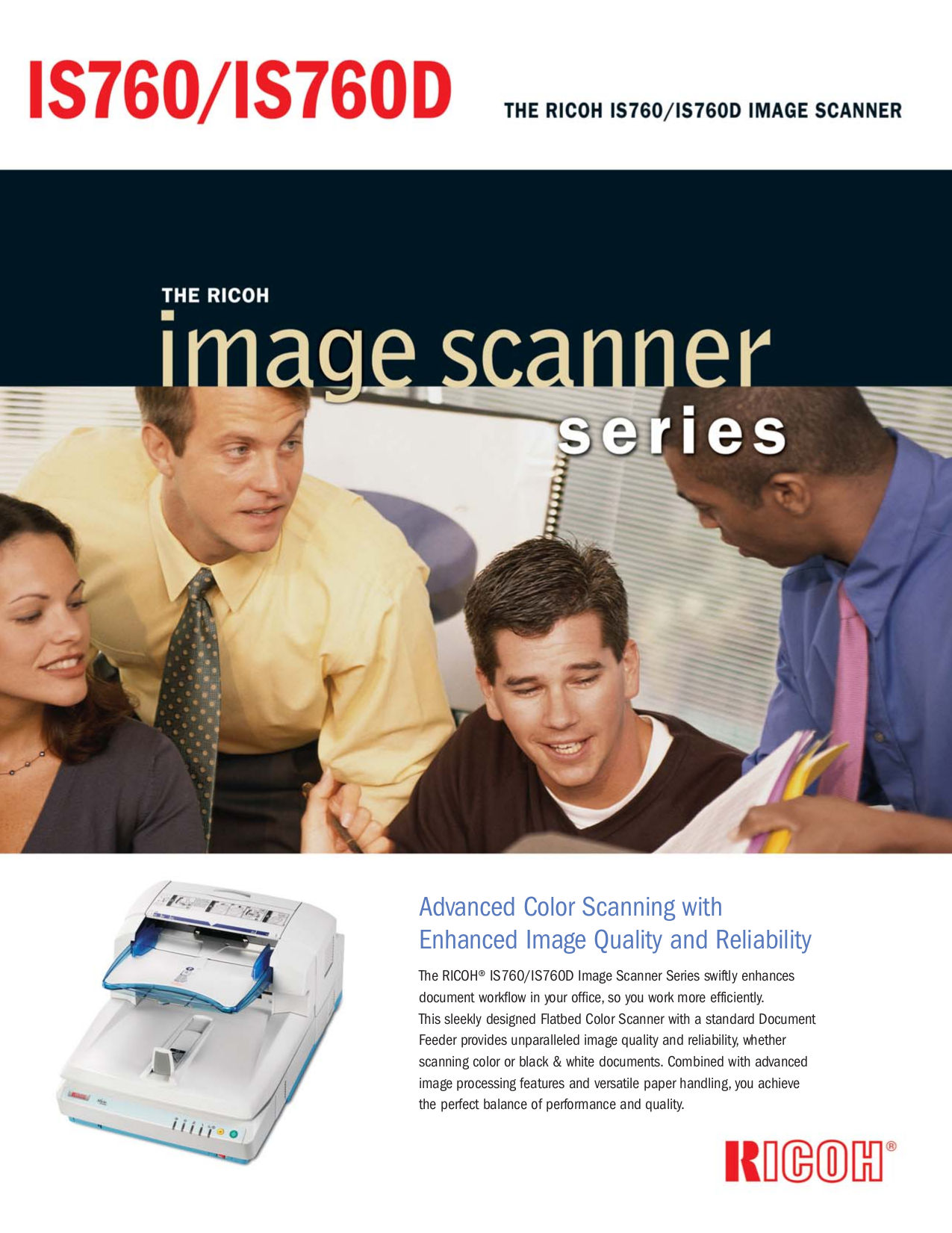 pdf for Ricoh Scanner IS760 manual