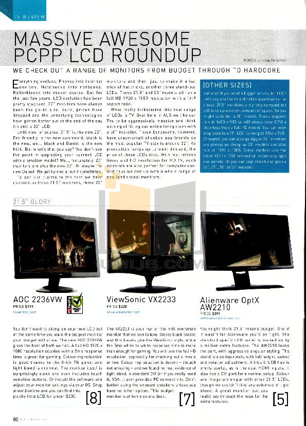 pdf for AOC Monitor 2236VW manual