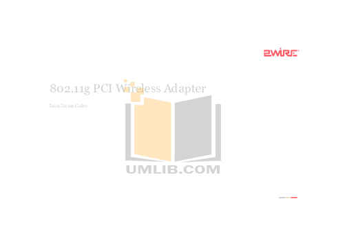 pdf for 2wire Other 802.11g PCI Card Wireless Adapter Adapter manual