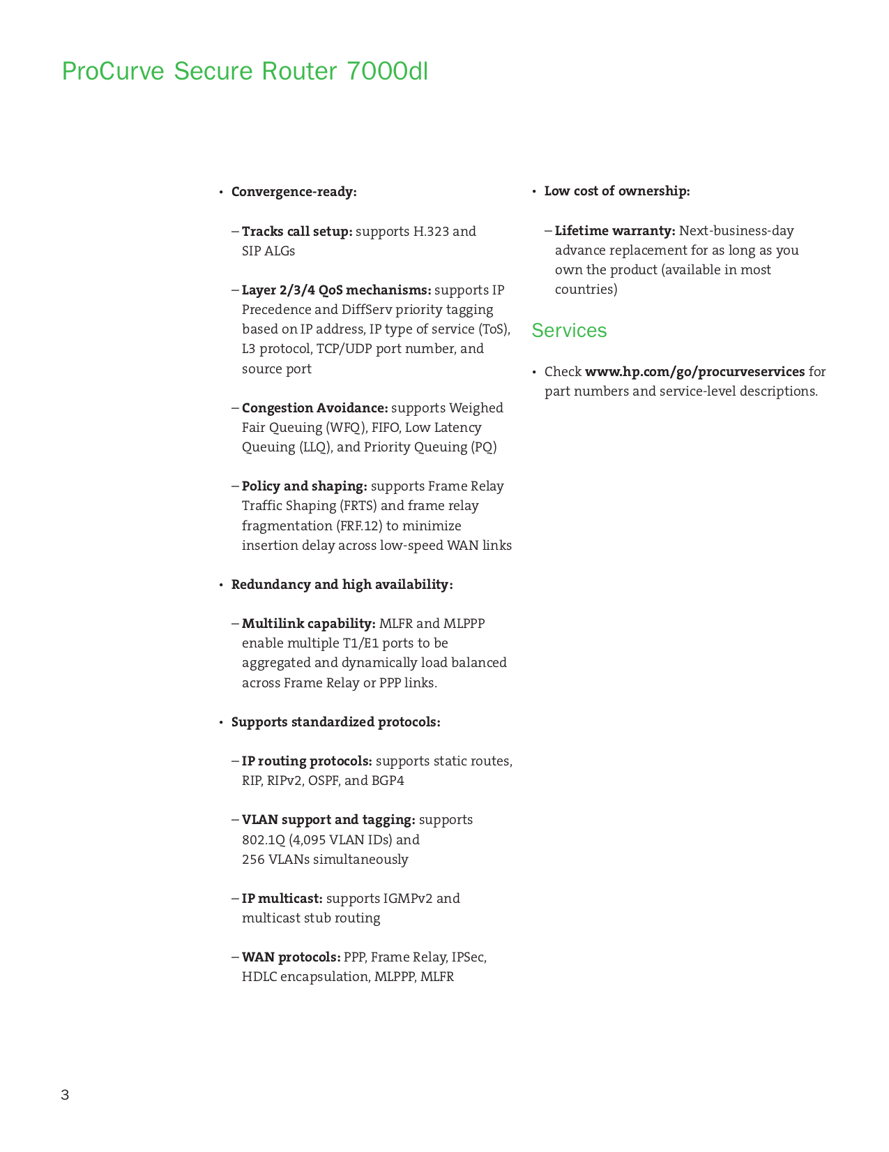 PDF manual for HP Router ProCurve J8463A