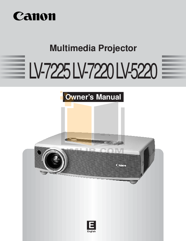 pdf for Canon Projector LV-7225 manual