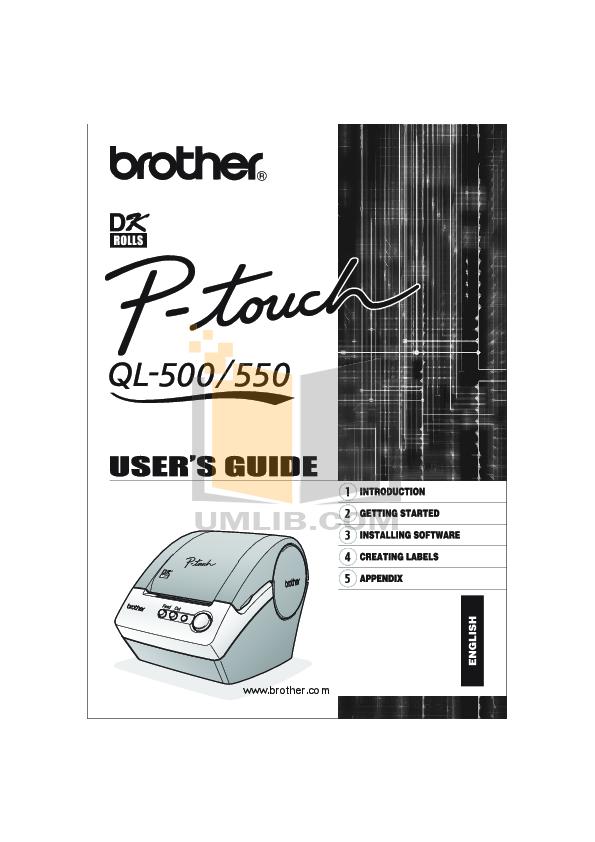 pdf for Brother Printer PT-35 manual