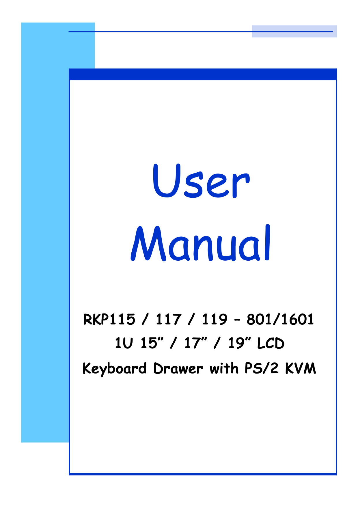 pdf for I-Tech Other RKP115-1601 Keyboard Drawers manual