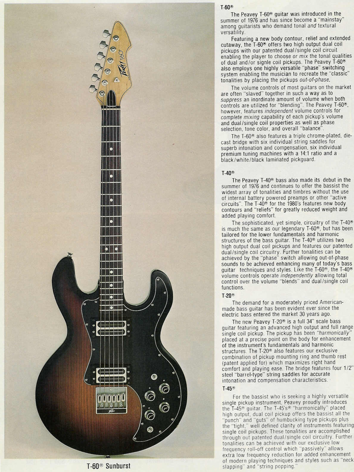 pdf for Peavey Guitar T40 manual