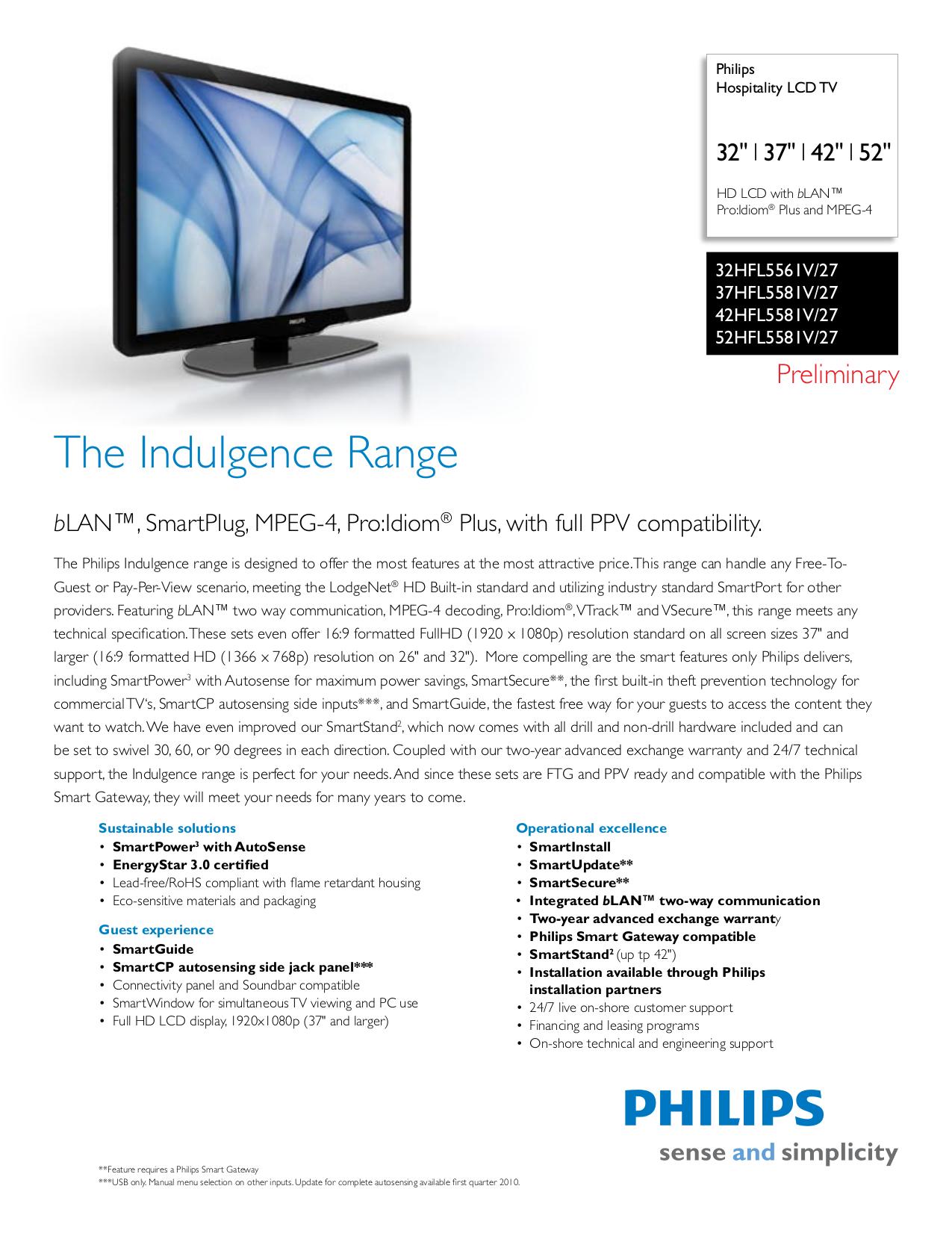 Download free pdf for Philips 37HFL5581V TV manual