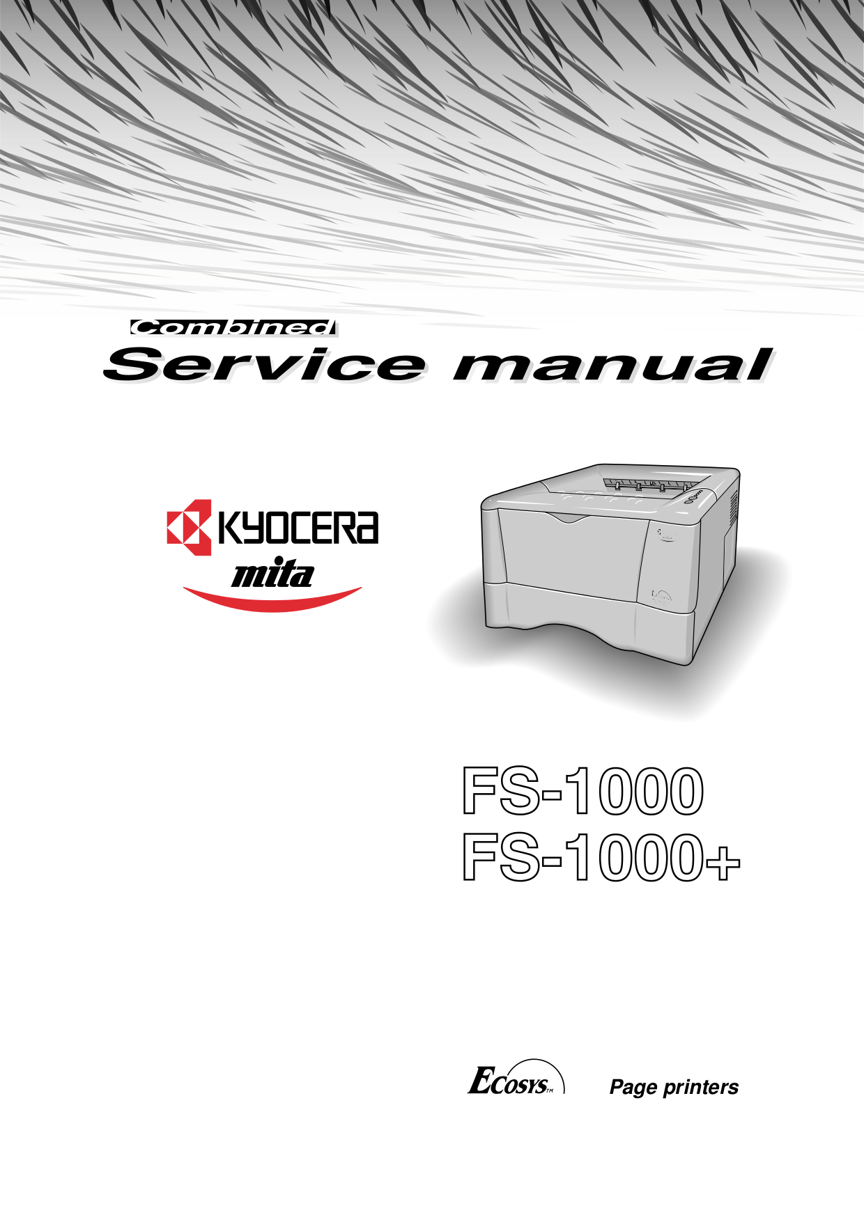 pdf for Kyocera Printer F-1000A manual