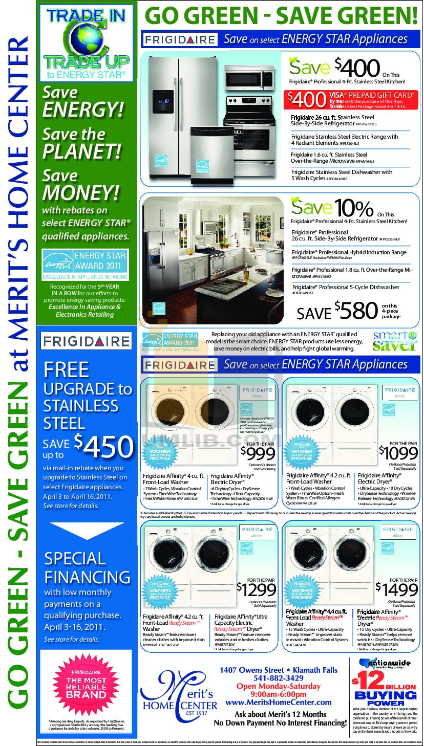 pdf for Frigidaire Refrigerator FFHS2612LS manual
