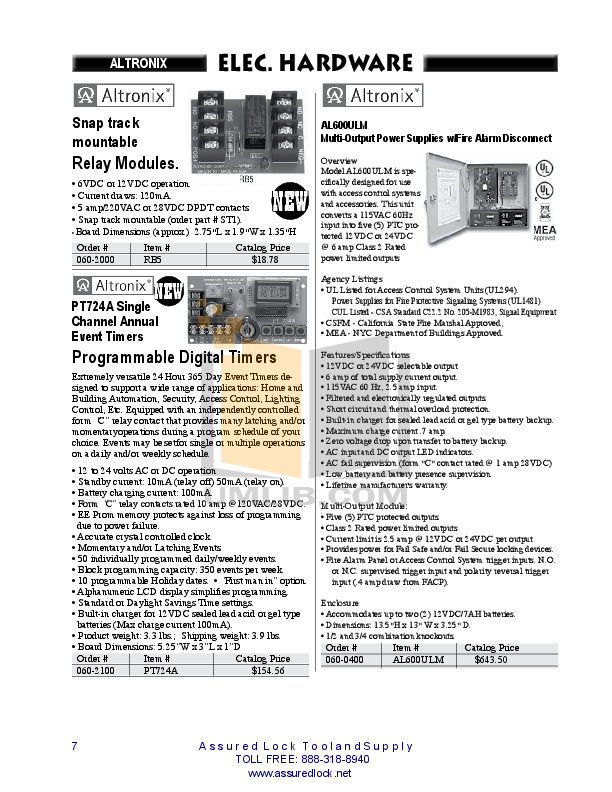Aiphone Other DS-B Intercoms-Accessory pdf page preview