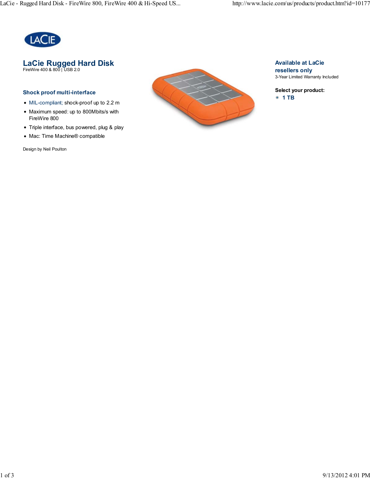 pdf for LaCie Storage 301924 manual