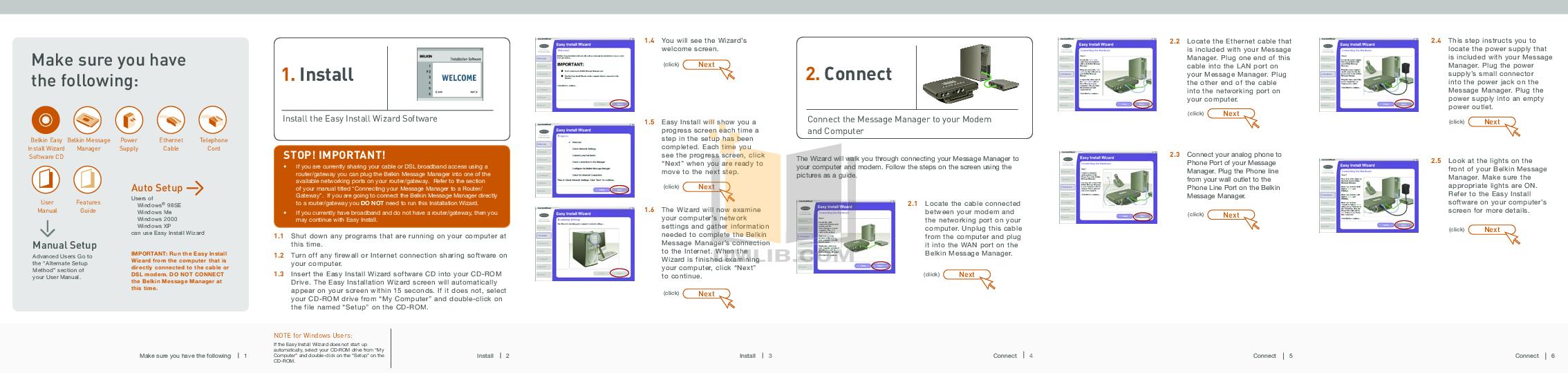 pdf for Belkin Router F1PG111EN manual