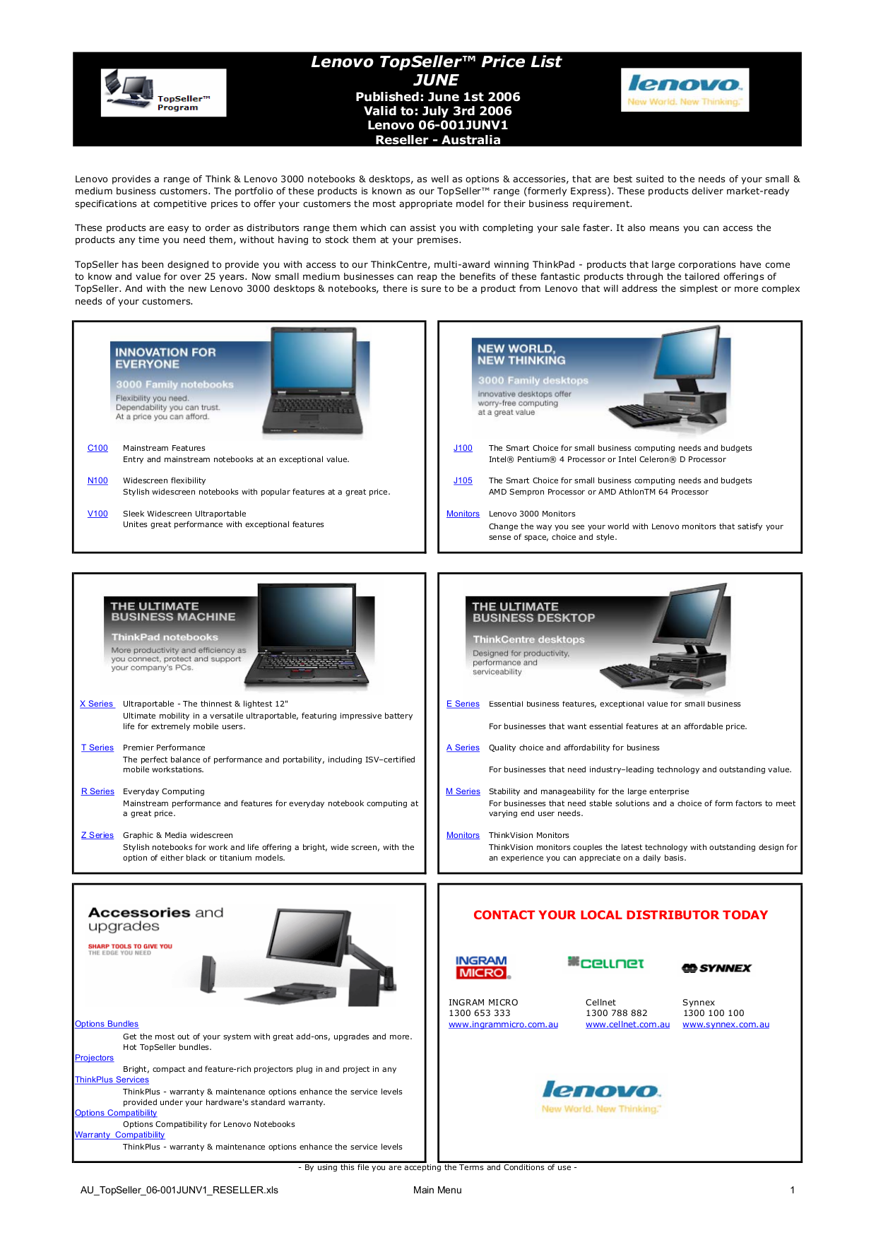 Lenovo Desktop ThinkCentre A52 8297 pdf page preview