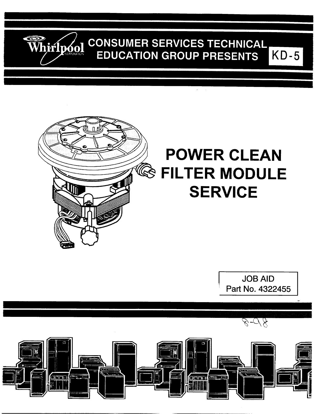 pdf for Whirlpool Dishwasher DU1055XTV manual