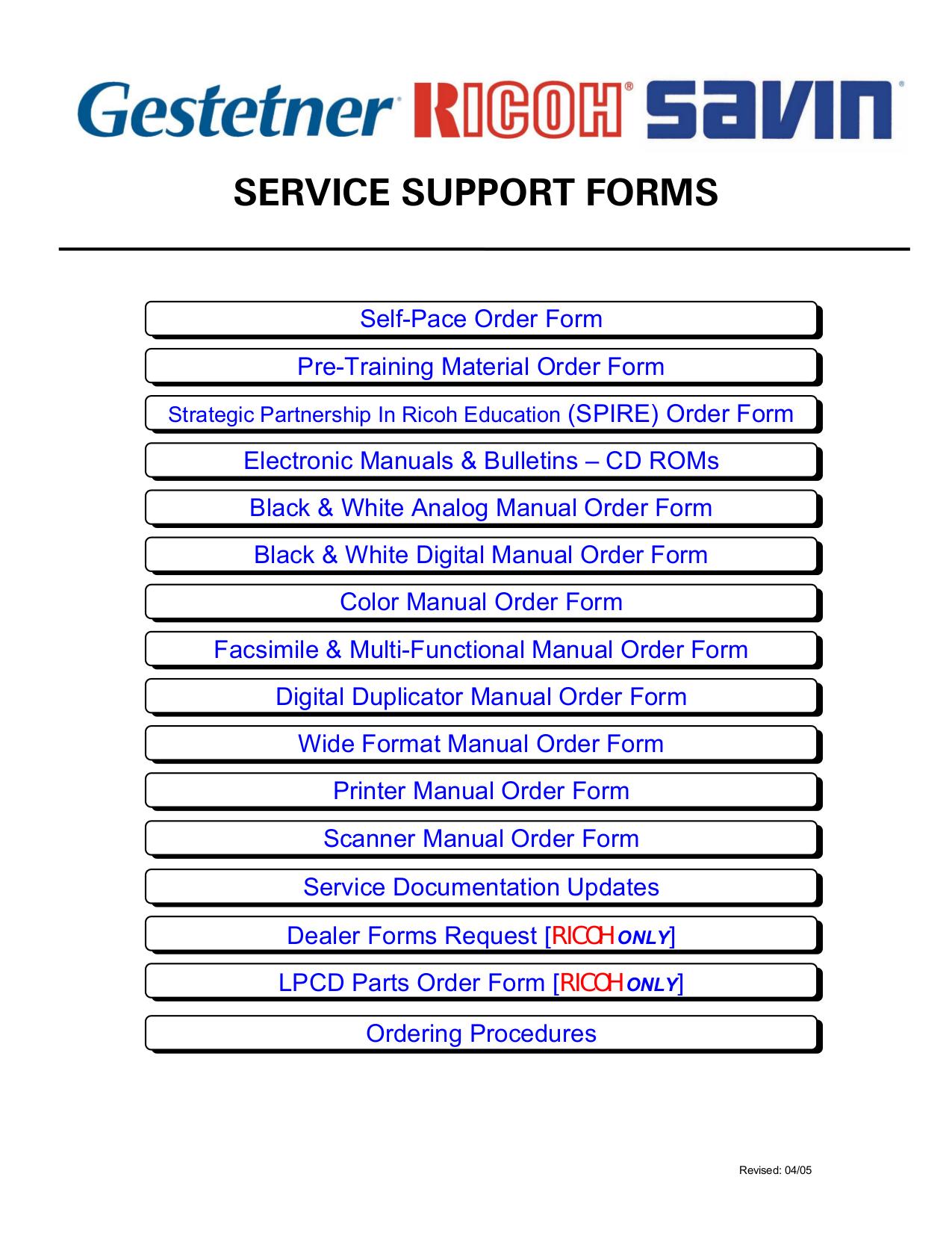 Ricoh Aficio 1015 Service Manual Pdf